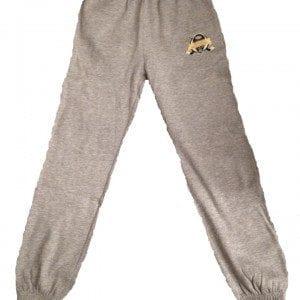 grå byxor